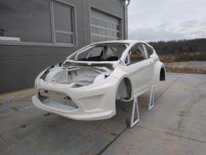 Ford Fiesta MK7 chassis with roll cage