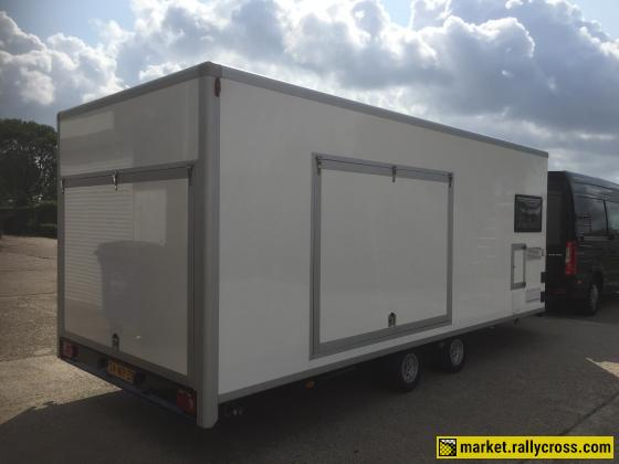 For sale motorsport trailer (with small living).