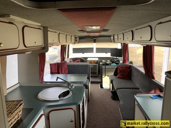 Van Hool double decker race bus (Ex jos kuypers) for sale