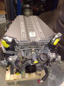 Mercedes AMG SLS GT GT3 engine